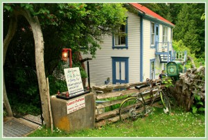 Breezy Bay Bed & Breakfast! Go another 250ft to the parking area.